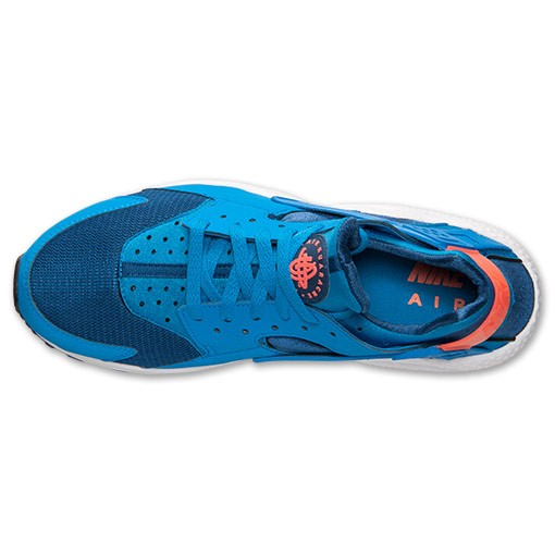 Nike Air Huarache 318429 402 Gym Blue/Photo Blue/Bright Mango Mens Shoes