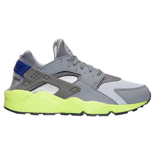 Nike Air Huarache 318429 004 Wolf Grey/Volt/Dark Concord Mens Shoes