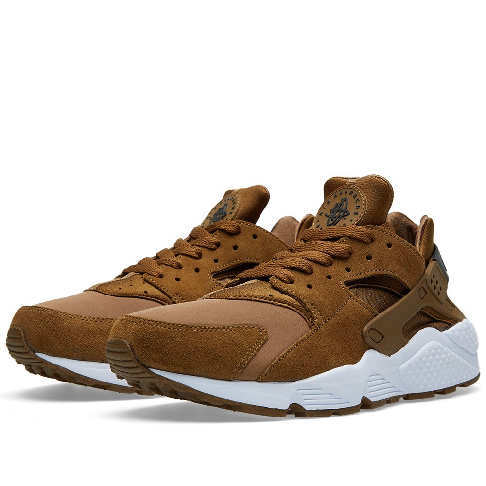 Nike Air Huarache Suede 318429-301 Umber Black/White Mens Shoes