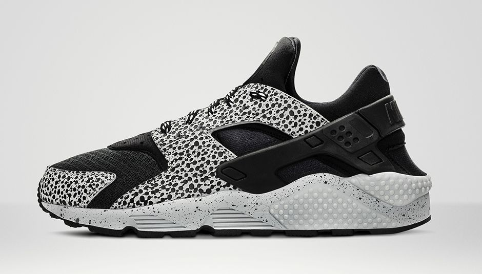 Nike WMNS Air Huarache Safari Black Grey Platinum Womens Shoe