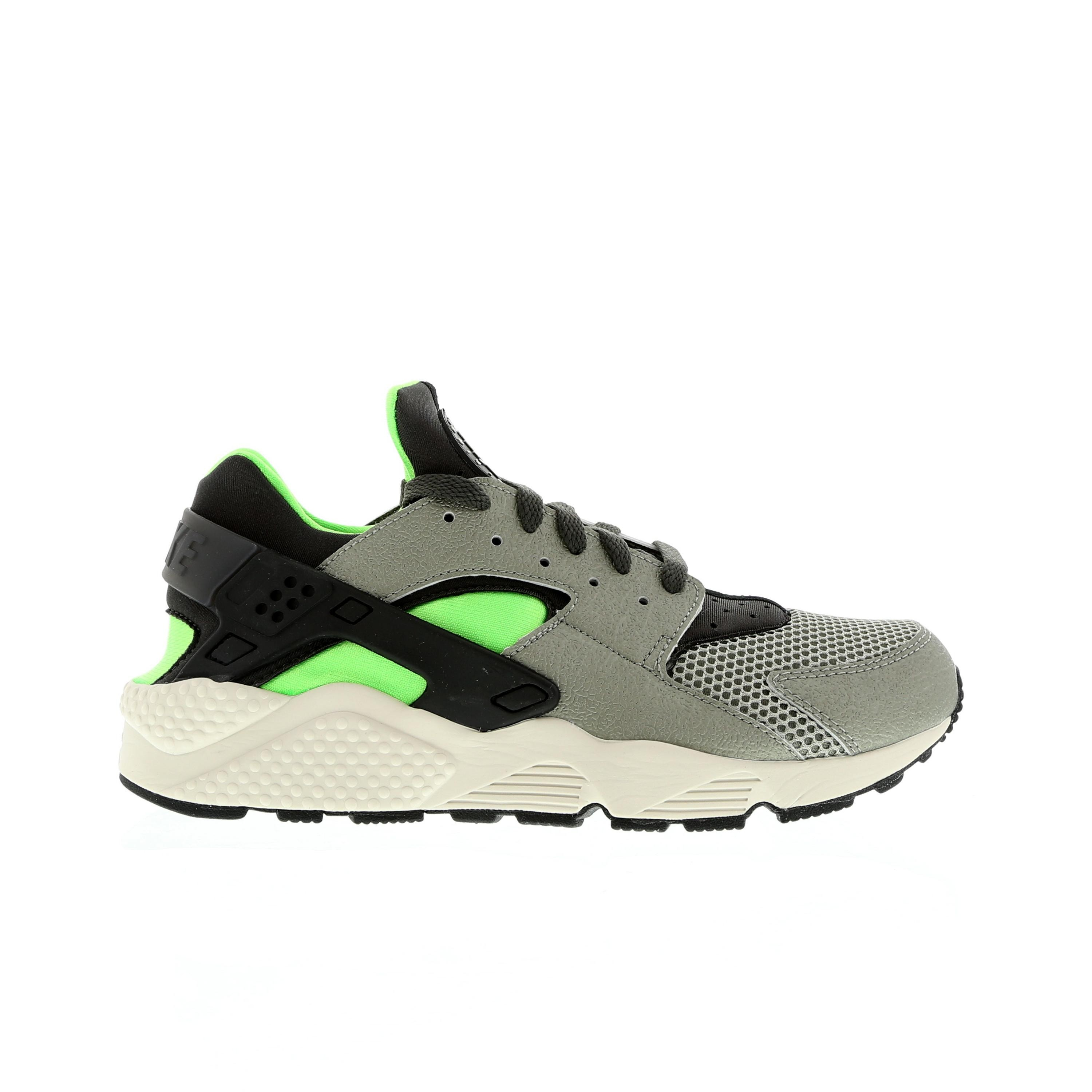 Nike Air Huarache 318429-013 Mine Grey/Mid Fog/Poison Green Mens Shoes