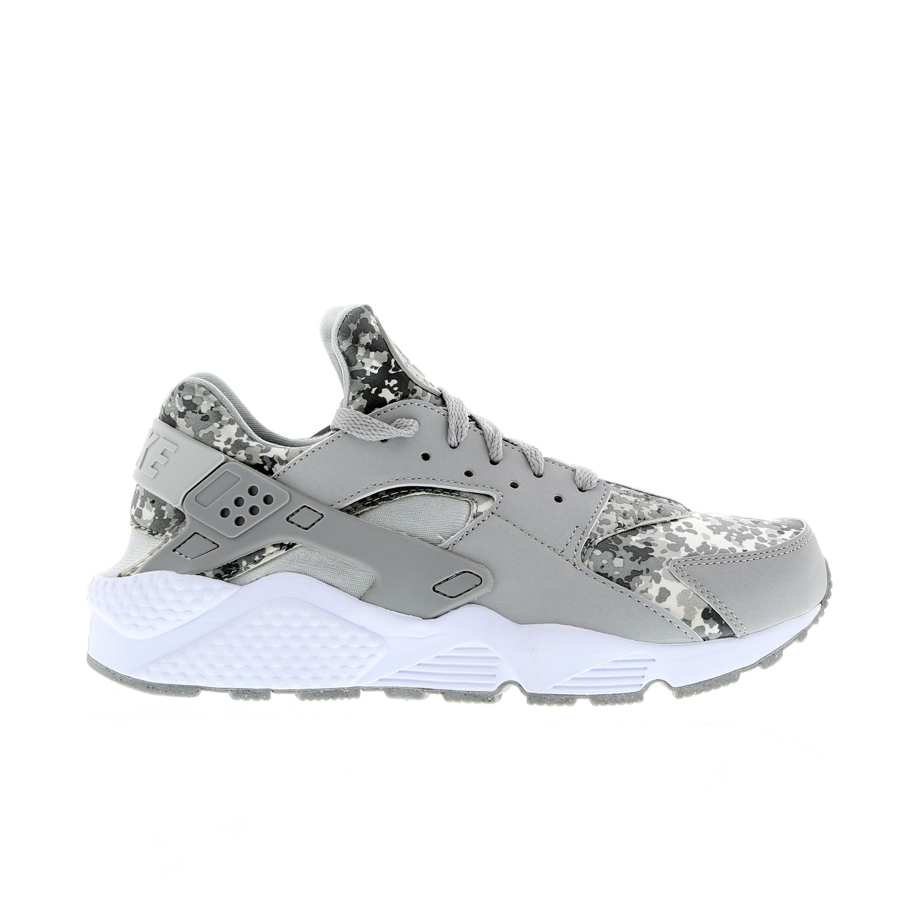 Nike Air Huarache Camo 318429-091 Grey/Grey/White Mens Shoes
