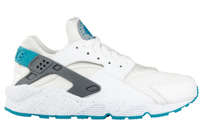 Nike Air Huarache Run Turbo Green White Grey Mens Shoes