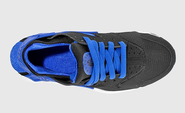 Nike Air Huarache GS 654275-005 Black Lyon Blue White Shoes