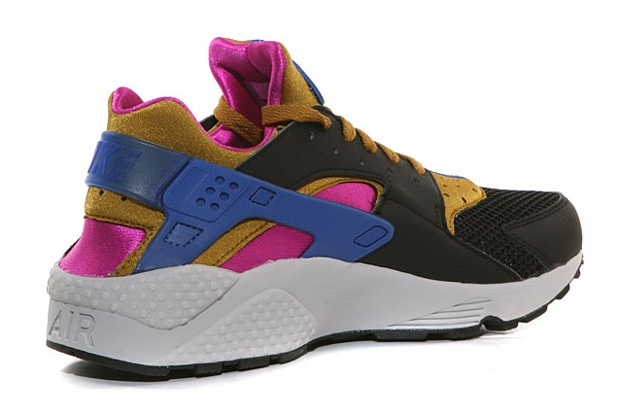 Nike WMNS Air Huarache 318429-011 Black Brown Fuchsia Flash Game Royal Womens Shoe