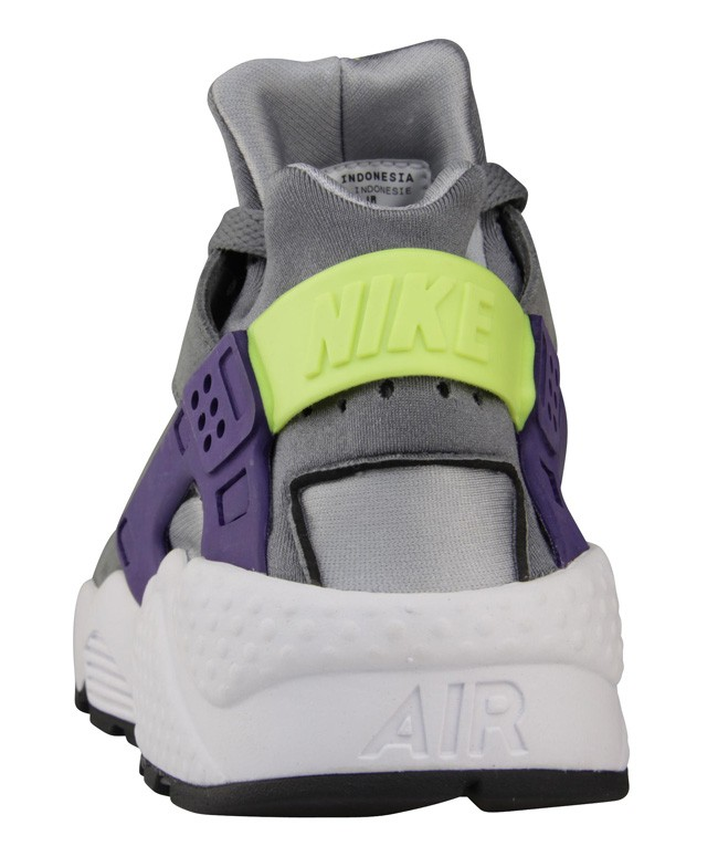 Nike WMNS Air Huarache Run Wolf Grey/Purple-Volt Yellow Womens Shoe