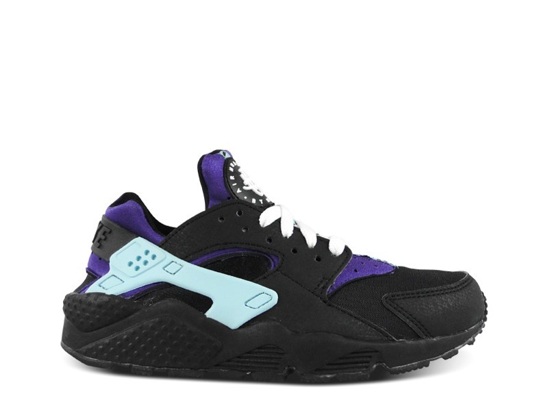 Nike WMNS Air Huarache 634835 015 Black/White-Court Purple Womens Trainers