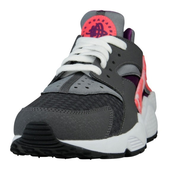 Nike WMNS Air Huarache Run Iron Ore Laser Crimson Purple White Womens Shoe