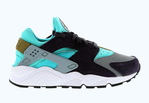 Nike WMNS Air Huarache Purple Hyper Jade Womens Running Shoes