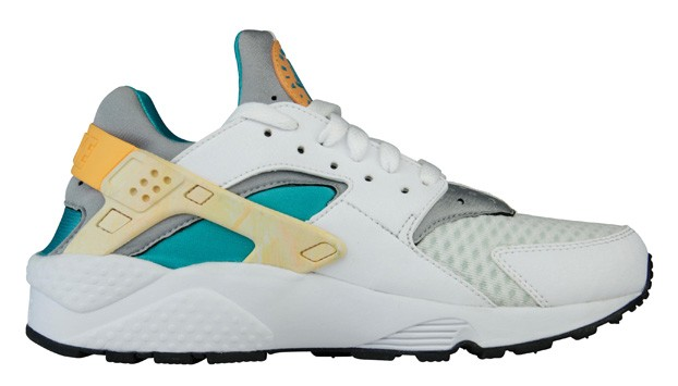 Nike Air Huarache Run White/Atomic Orange/Hyper Jade Men's Shoe
