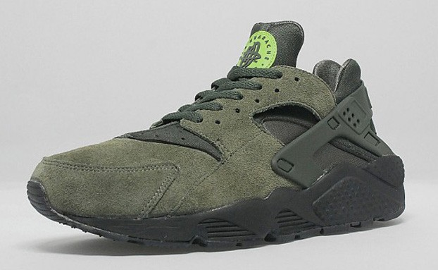 Nike Air Huarache Suede Cargo Green Khaki/Sequoia Men's Shoe