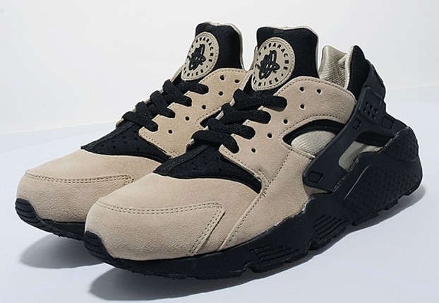 Nike Air Huarache Sand Black Mens Running Trainers