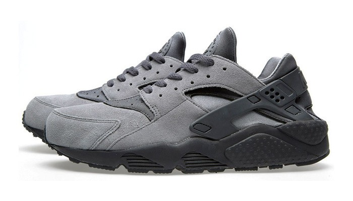 Nike Air Huarache Suede Cool Grey/Anthracite-Black Men's Shoe