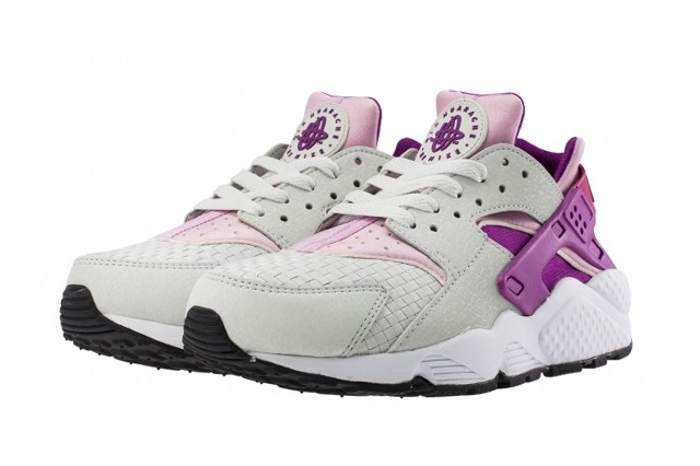 Nike WMNS Air Huarache Woven Grey Arctic Pink Purple Womens Trainers