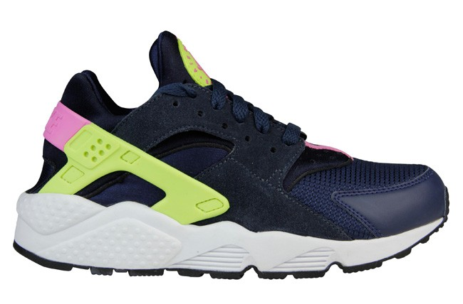 Nike WMNS Air Huarache Midnight Navy Volt/Pink Womens Shoe