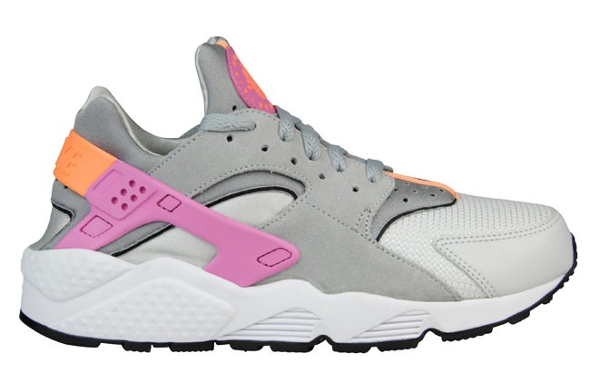 Nike WMNS Air Huarache Run Grey Atomic Orange/Red Violet Womens Shoe