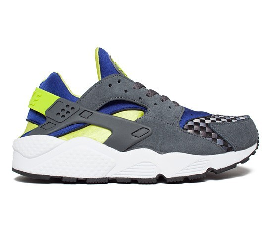 Nike Air Huarache Woven 318429-034 Dark Grey/Venom Green Men's Shoe