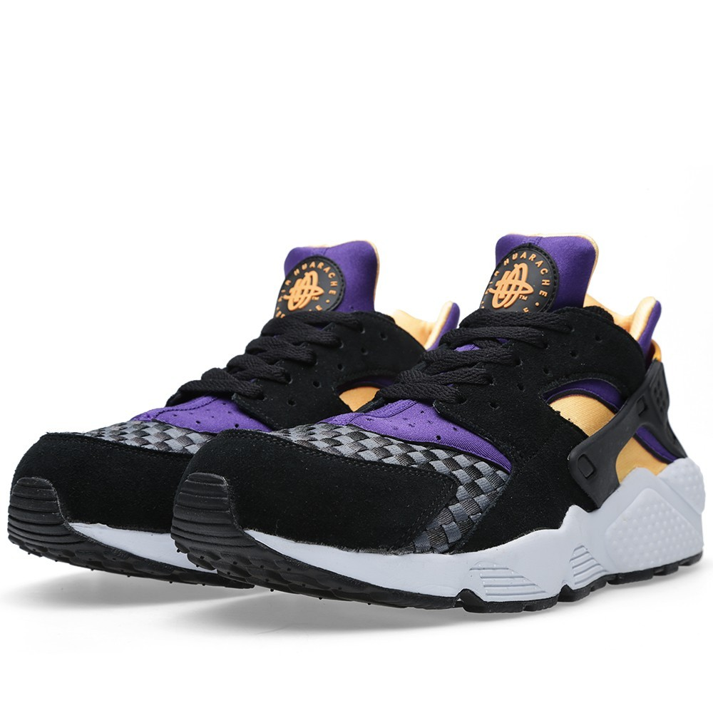 Nike Air Huarache Woven 318429-086 Black/Atomic Mango Violet Blue Men's Shoe