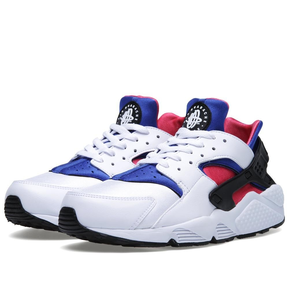 Nike Air Huarache Run 318429-146 White Game Royal/Dynamic Pi Men's Shoe
