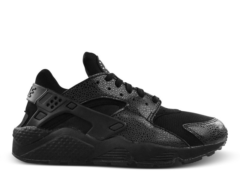 Nike Air Huarache Safari Triple Black 634835-001 Black/Black-White Men's Shoe