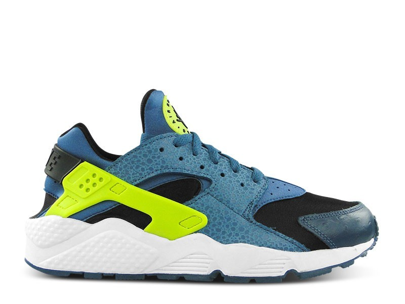 Nike Air Huarache Safari 318429 043 Black/Space Blue-Volt Men's Shoe