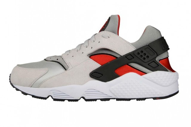 Nike Air Huarache Grey Red Anthracite Men's Shoe