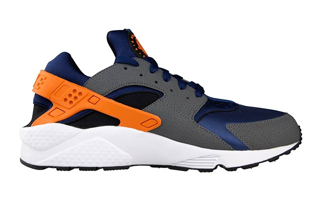 Nike Air Huarache Run Brave Blue Urban Orange Men's Shoe