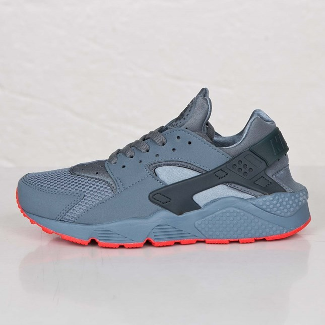 Nike Air Huarache FB 705070-400 Blue Graphite/Classic Charcoal-Bright Crimson Men's Shoe