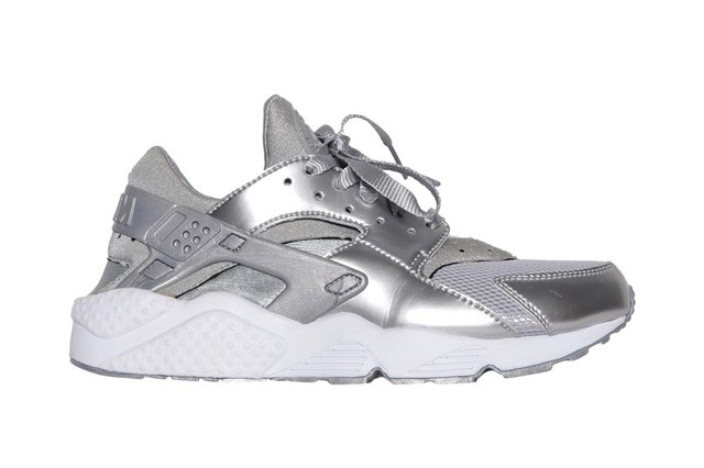 Nike WMNS Air Huarache Metallic Silver White Womens Trainers