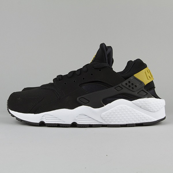 Nike Air Huarache LE Black/Tour Yellow Men's Shoe