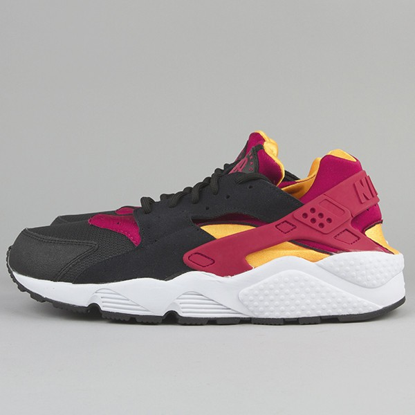 Nike Air Huarache LE Black Fuchsia/Laser Orange Men's Shoe