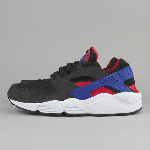 Nike Air Huarache LE Black Royal Blue/Crimson White Men's Shoe