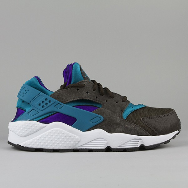 Nike WMNS Air Huarache LE Black Teal/Purple Brown White Womens Shoe