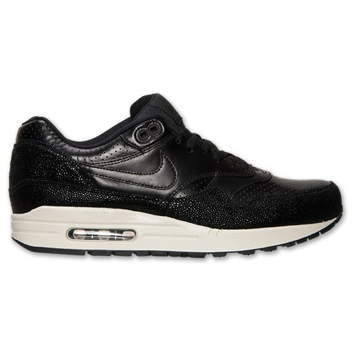 Nike Air Max 1 Leather PA 705007 001 Black/Sea Glass Mens Trainers