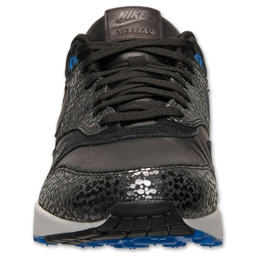 Nike Air Max 1 Deluxe Safari Print 684708 001 Black/Hyper Cobalt Mens Shoes