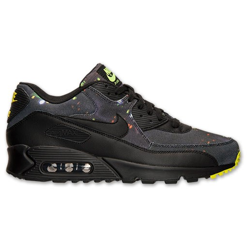 Nike Air Max 90 Premium 700155 070 Black/Volt/Dark Grey Men's Shoe