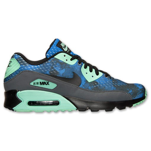 Nike Air Max 90 Premium 700157 403 Hyper Cobalt/Dark Grey/Green Glow Men's Shoe