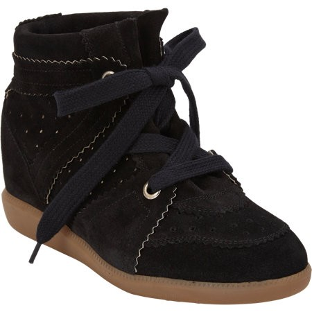 Isabel Marant Bobby 503398976 Coffee Brown Gum Women's Wedge Sneakers