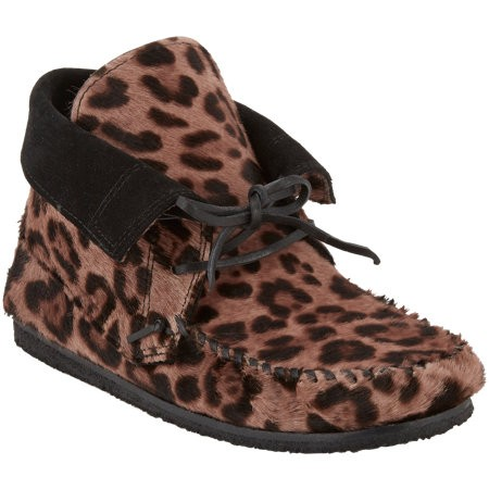 Isabel Marant Étoile Flavie Moccasin Boot Leopard-Print 503398846 pinkish-brown for Women