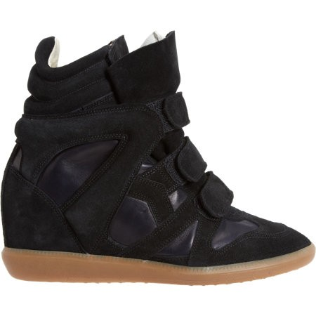 Isabel Marant Burt 503043879 Black Midnight Women's Wedge Sneakers