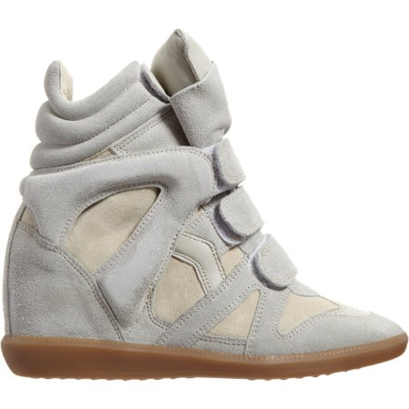Isabel Marant Bekett 502735259 Birch/Chalk Women's Wedge Sneakers