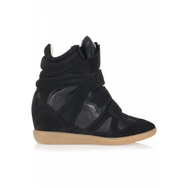 Isabel Marant Beyonce Black Women's Wedge Sneakers