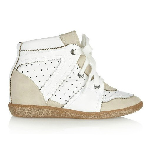 Isabel Marant Betty Chalk White Light Beige Women's Wedge Sneakers