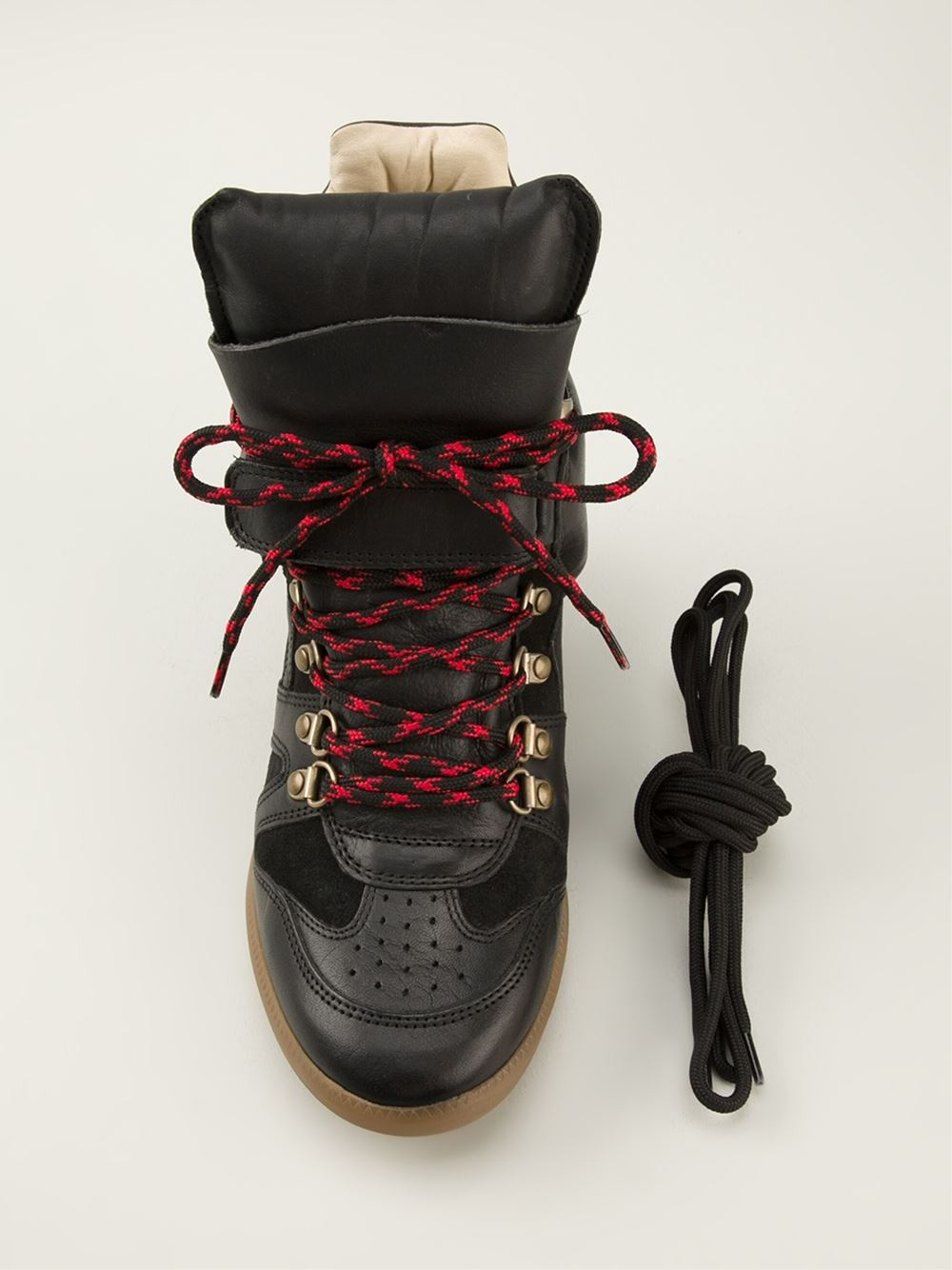 Isabel Marant Buck Hi-Top Black Women's Wedge Sneakers
