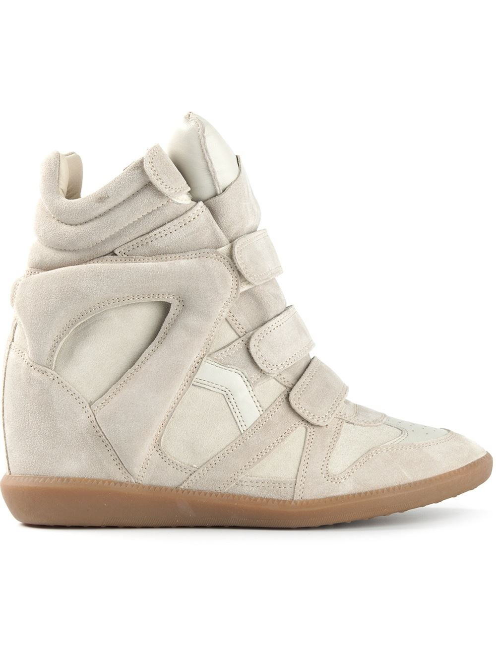 Isabel Marant Bekett Hi-Top White Women's Wedge Sneakers