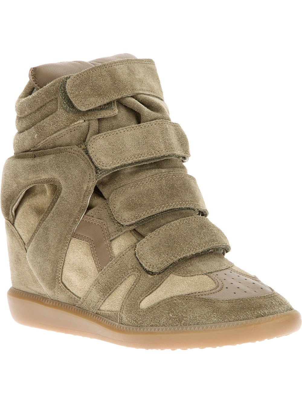 Isabel Marant Beckett Hi-Top Brown Women's Wedge Sneakers