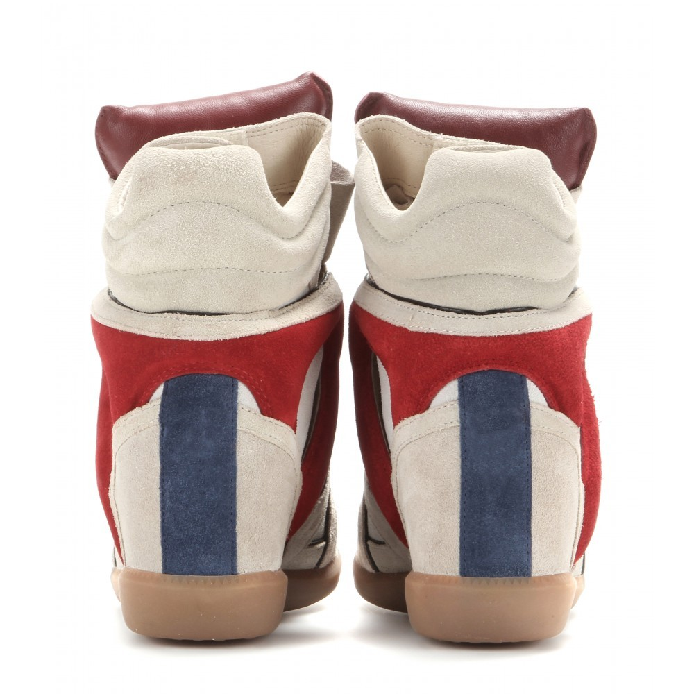 Isabel Marant Wila Hi-Top Beige Women's Wedge Sneakers