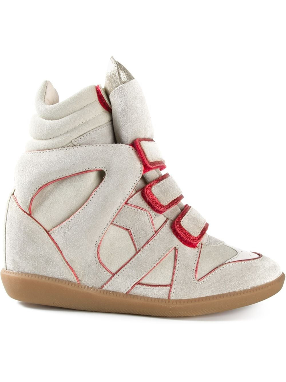 Isabel Marant Etoile Wila Beige Women's Wedge Sneakers