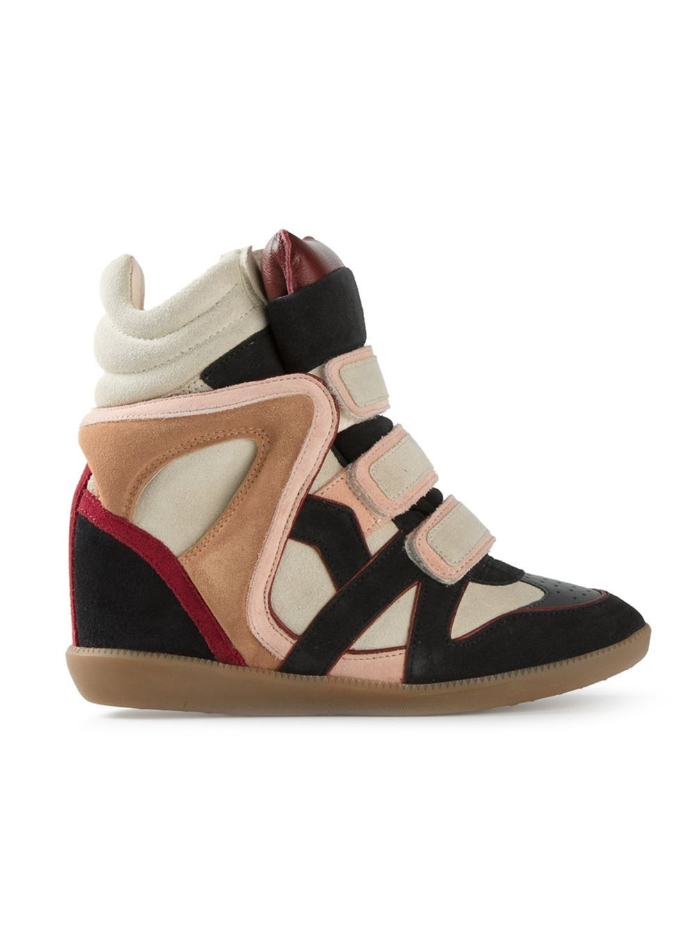 Isabel Marant Wila Hi-Top Multicolor Women's Wedge Sneakers