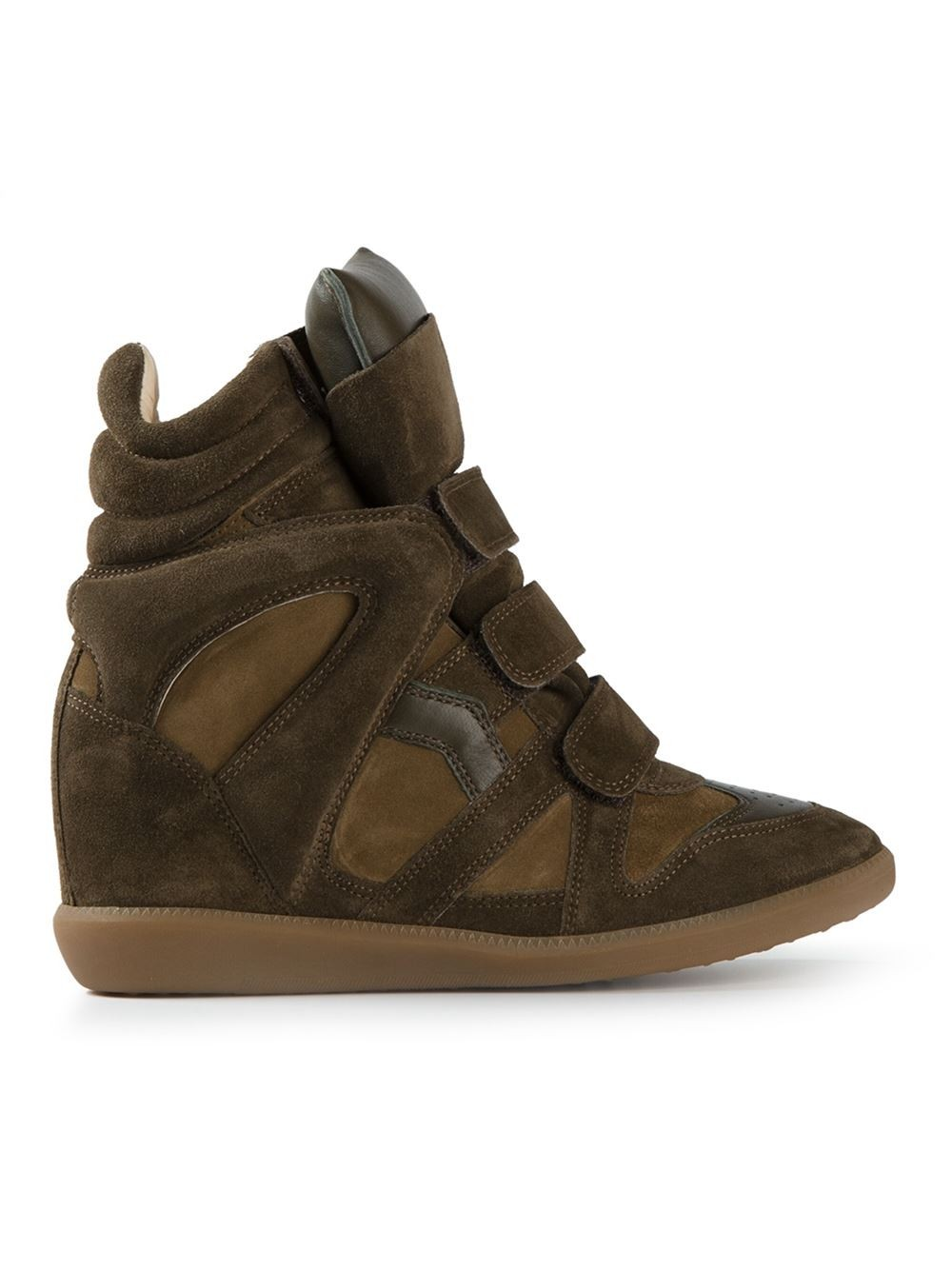 Isabel Marant Beckett Hi-Top Green Women's Wedge Sneakers